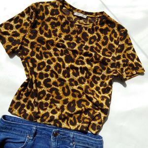 Zara Leopard Print Tee